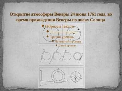 Открытие атмосферы Венеры 24 июня 1761 года, во время прохождения Венеры по д...