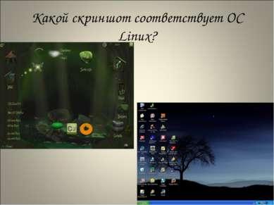 Какой скриншот соответствует ОС Linux?