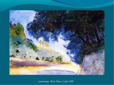 Landscape, Olive Trees, Corfu 1909