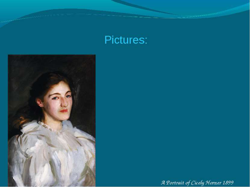 A Portrait of Cicely Horner 1899 Pictures: