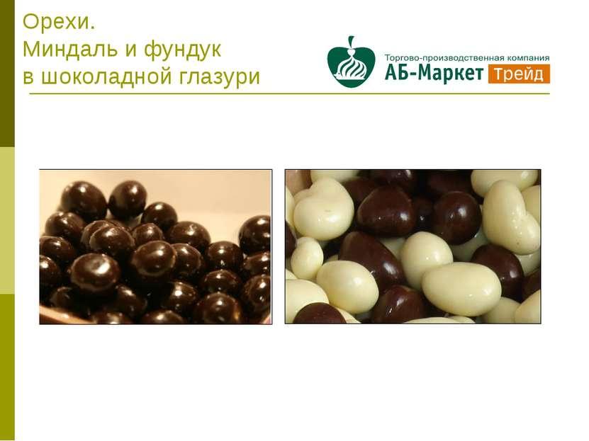 Орехи. Миндаль и фундук в шоколадной глазури
