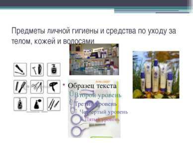 Предметы личной гигиены и средства по уходу за телом, кожей и волосами