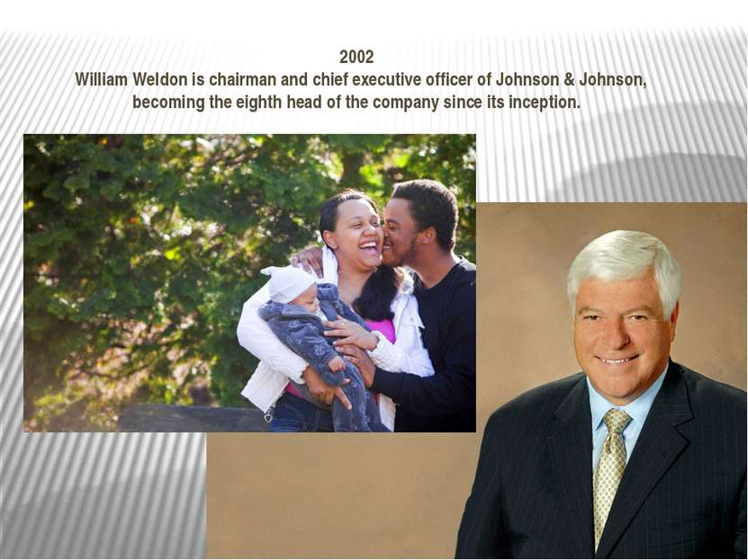 2002 William Weldon is chairman and chief executive officer of Johnson & John...