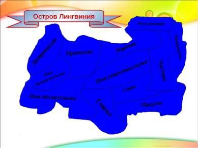 Остров Лингвиния Имя существительное Имя прилагательное Деепричастие Причасти...