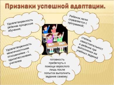 Удовлетворенность ребенка процессом обучения; Удовлетворенность межличностным...