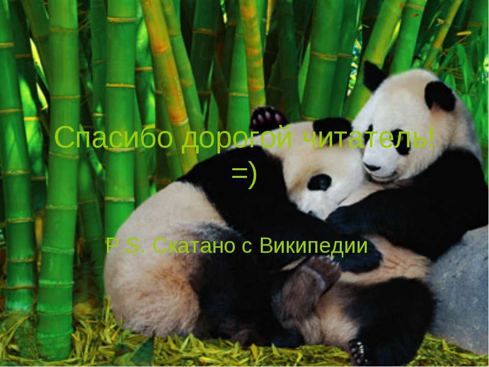 Спасибо дорогой читатель!=) P.S. Скатано с Википедии