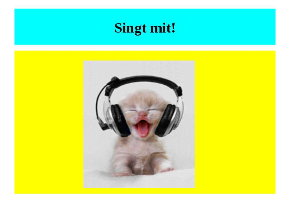 Singt mit!