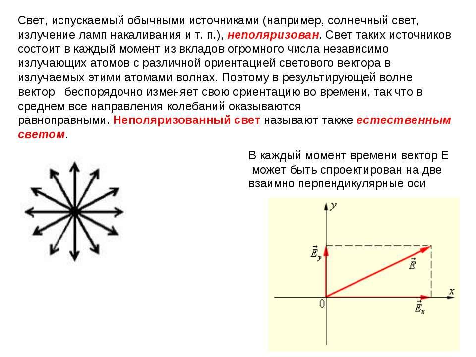 Свет, испускаемый обычными источниками (например, солнечный свет, излучение л...