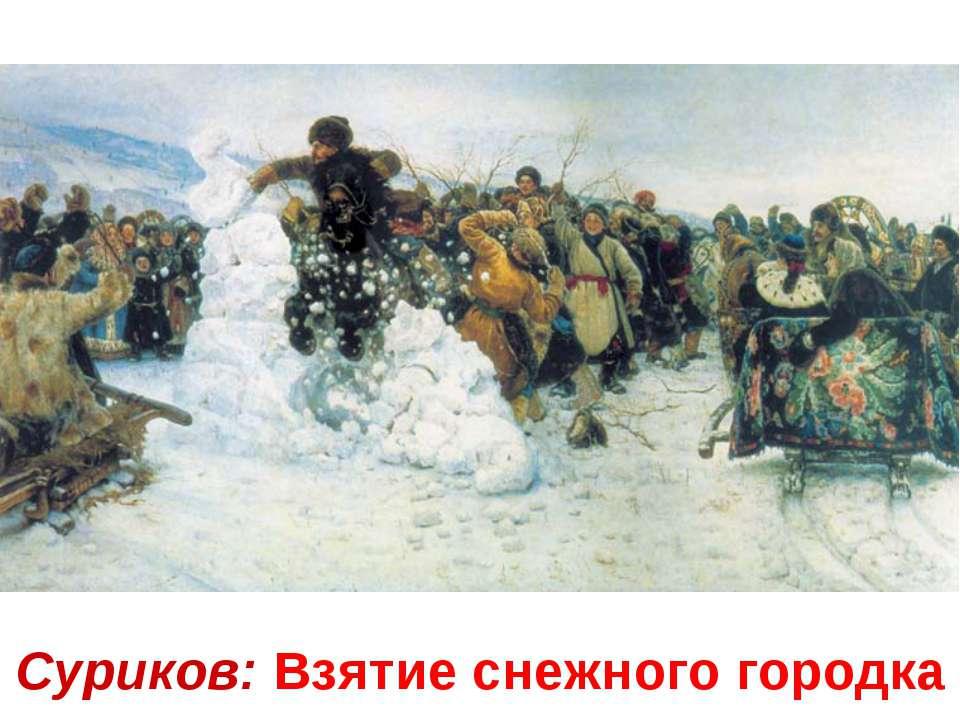 Суриков: Взятие снежного городка