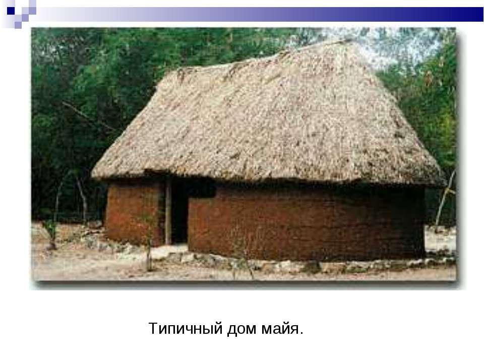 Типичный дом майя.