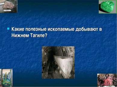 Какие полезные ископаемые добывают в Нижнем Тагиле?