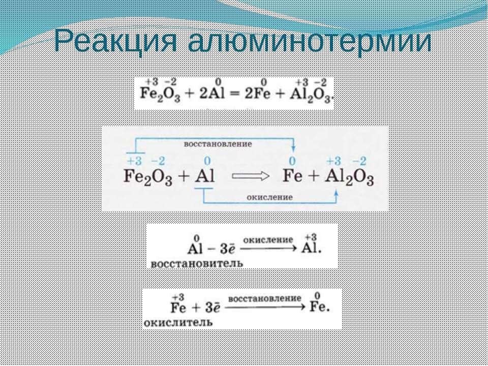 Реакция алюминотермии