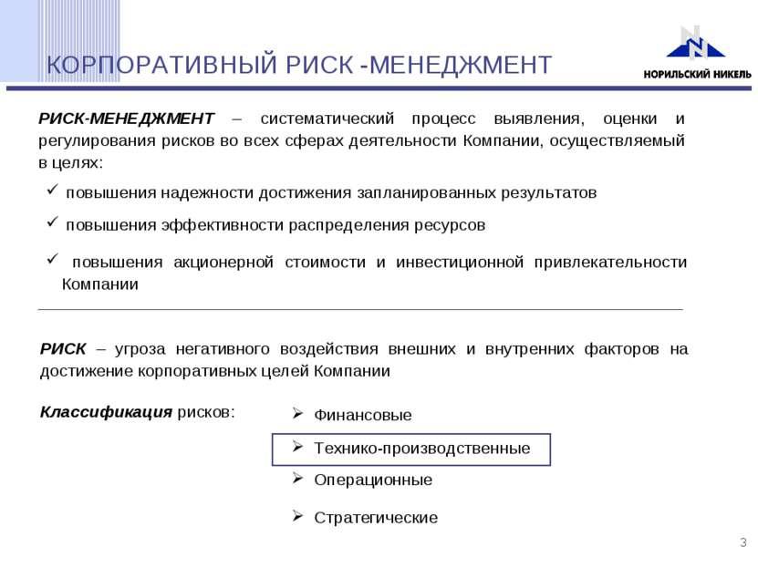 КОРПОРАТИВНЫЙ РИСК -МЕНЕДЖМЕНТ РИСК-МЕНЕДЖМЕНТ – систематический процесс выяв...