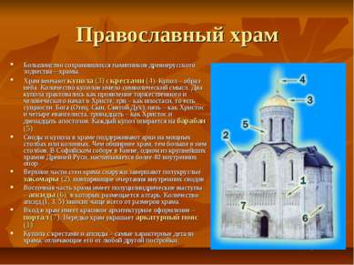 Православный храм Большинство сохранившихся памятников древнерусского зодчест...