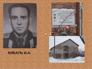 КИБАЛЬ И.А.