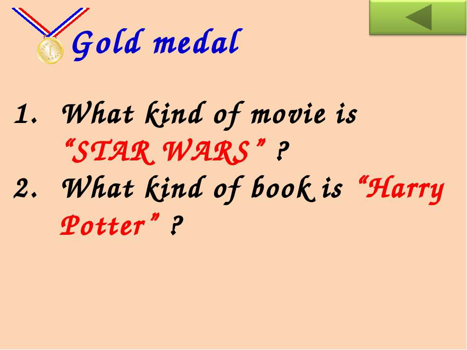 "What kind of movie is ""STAR WARS"" ? What kind of book is ""Harry Potter"" ? Gol..."