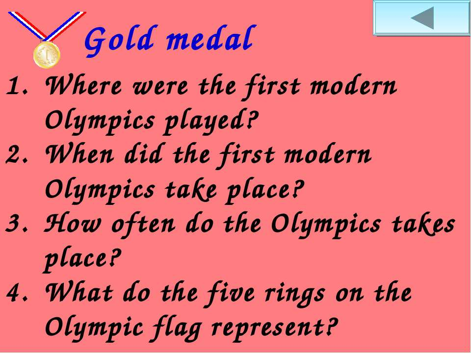 Where were the first modern Olympics played? When did the first modern Olympi...