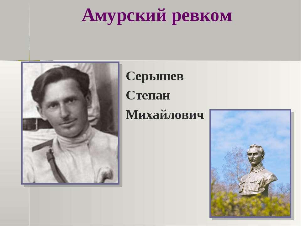 Амурский ревком Серышев Степан Михайлович