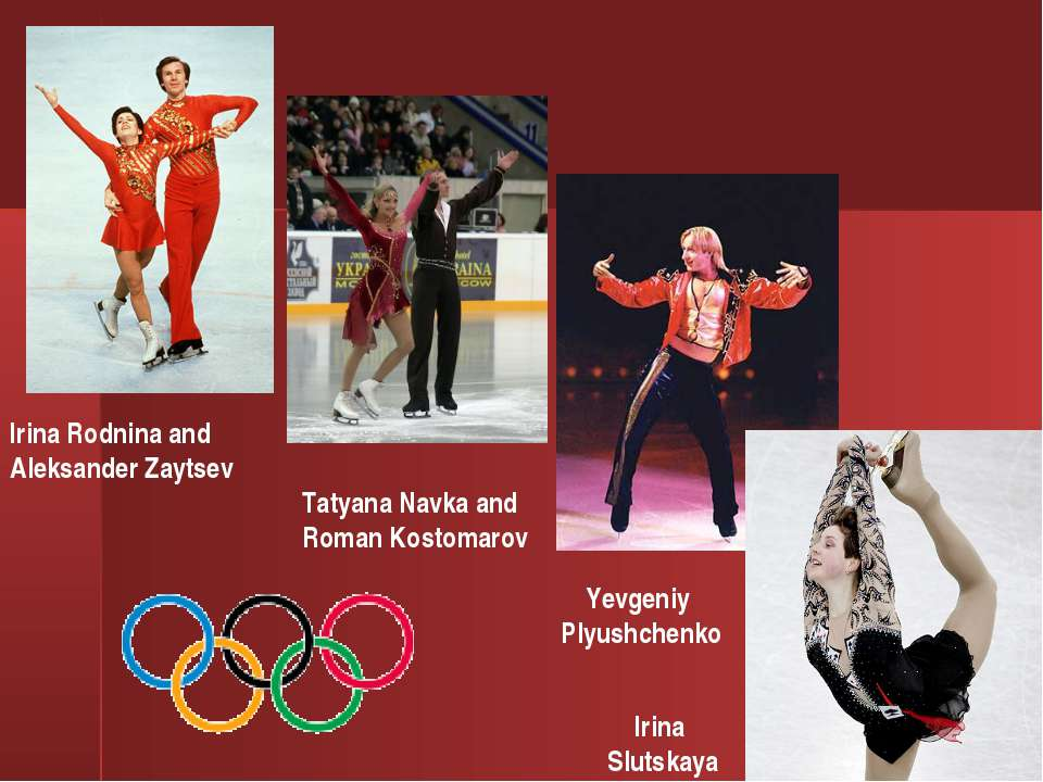 Yevgeniy Plyushchenko Irina Slutskaya Tatyana Navka and Roman Kostomarov Irin...