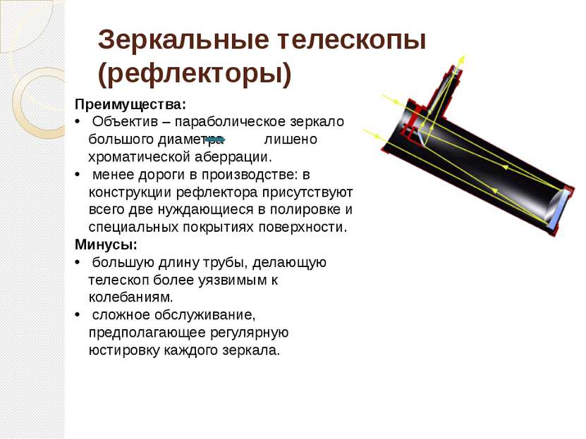 Зеркальные телескопы (рефлекторы)