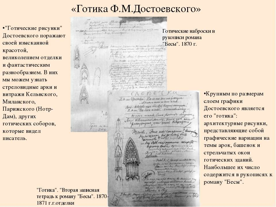 """Крупным по размерам слоем графики Достоевского является его """"готика"""": архитек..."""
