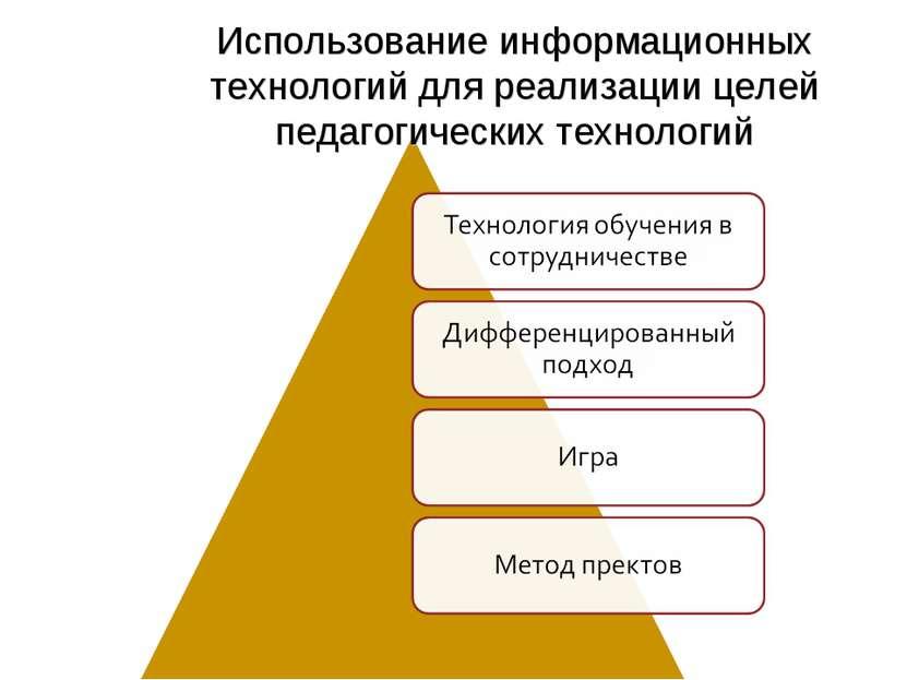 Использование информационных технологий для реализации целей педагогических т...