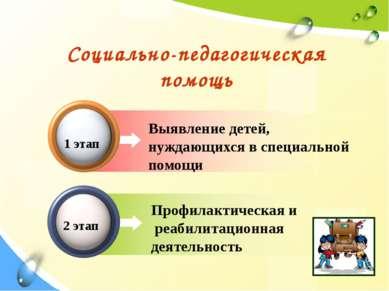 Выявление детей, нуждающихся в специальной помощи Социально-педагогическая по...