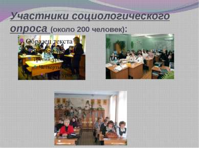 Участники социологического опроса (около 200 человек):