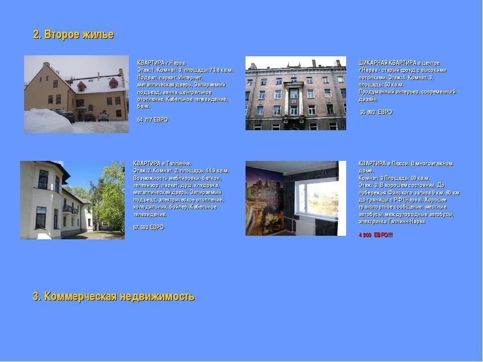 2. Второе жилье КВАРТИРА г.Нарва. Этаж:1. Комнат: 3, площадь: 73,8 кв.м. Подв...