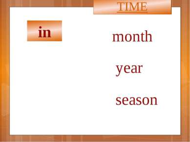 in TIME month year season