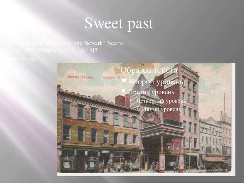A vintage postcard view of the Newark Theatre in the 1890's/1900's, prior to ...