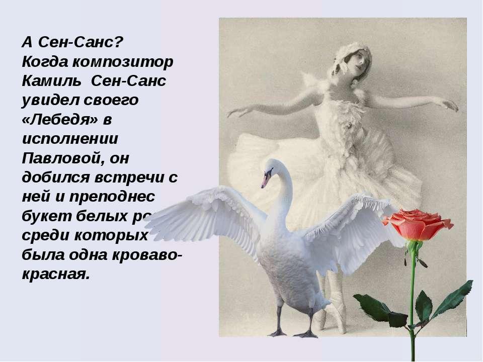 А Сен-Санс? Когда композитор Камиль Сен-Санс увидел своего «Лебедя» в исполне...