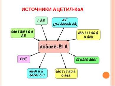 ИСТОЧНИКИ АЦЕТИЛ-КоА
