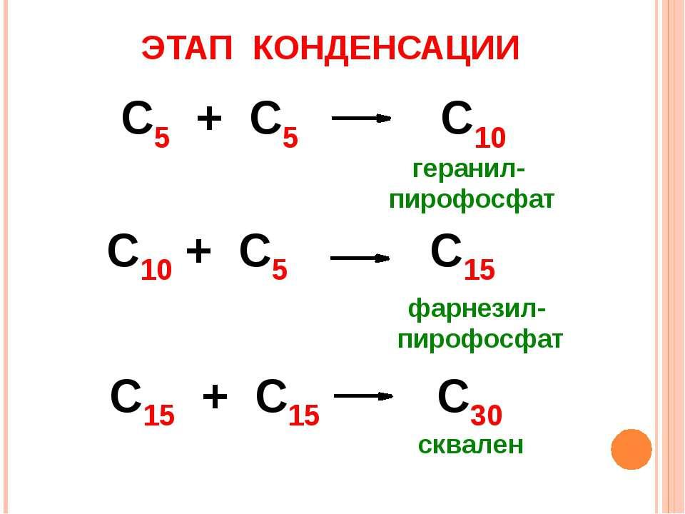 ЭТАП КОНДЕНСАЦИИ