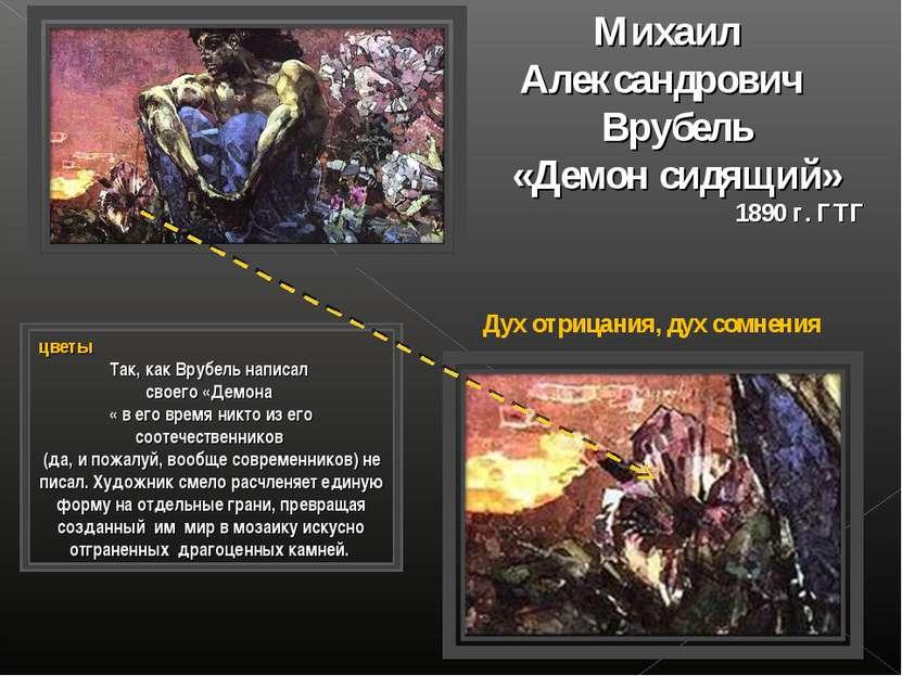 Михаил Александрович Врубель «Демон сидящий» 1890 г. ГТГ цветы Так, как Врубе...