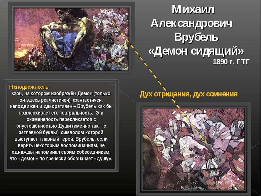 Михаил Александрович Врубель «Демон сидящий» 1890 г. ГТГ Неподвижность Фон, н...