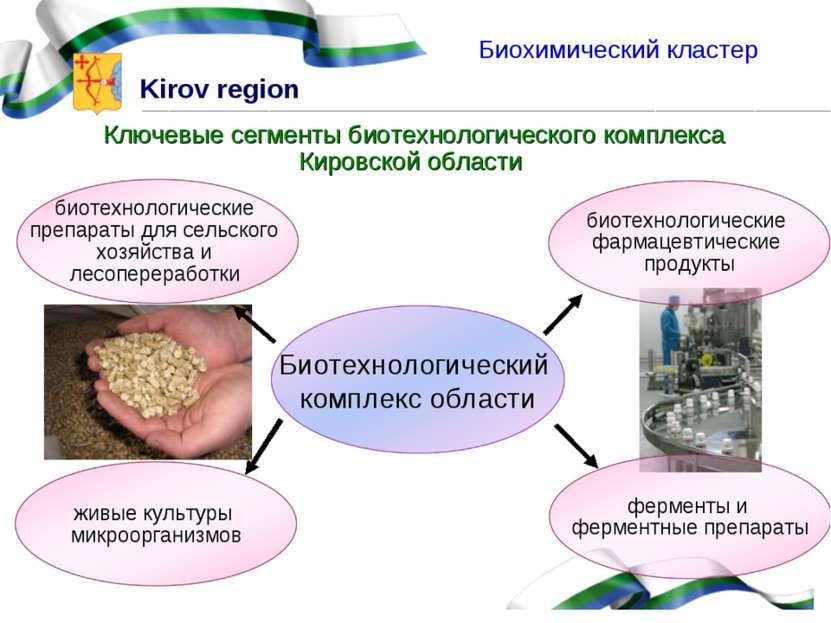 Ключевые сегменты биотехнологического комплекса Кировской области Биохимическ...