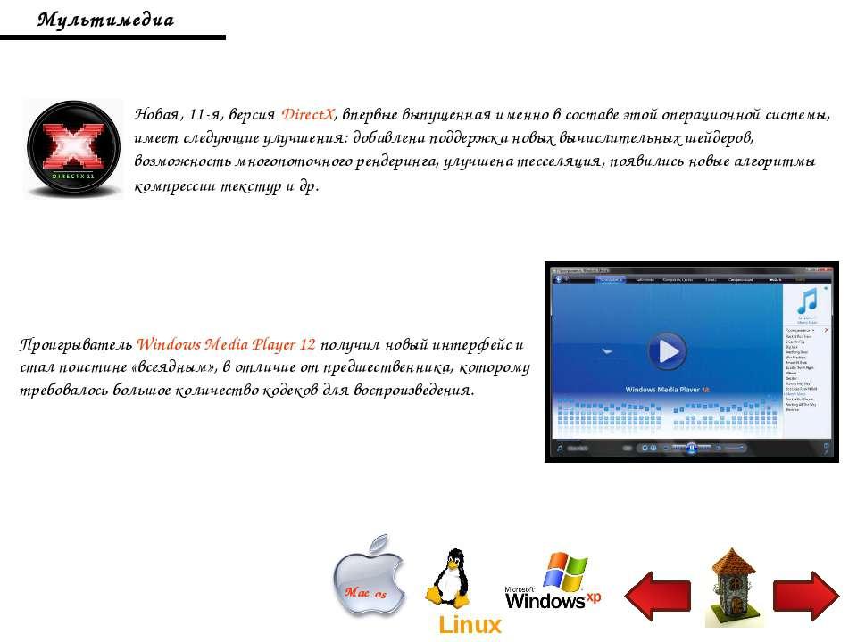 Мультимедиа Новая, 11-я, версия DirectX, впервые выпущенная именно в составе ...