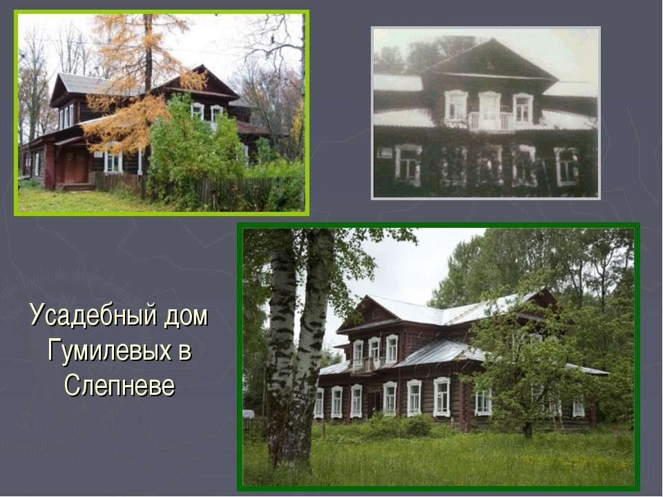 Усадебный дом Гумилевых в Слепневе