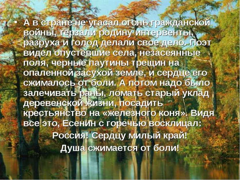 А в стране не угасал огонь гражданской войны, терзали родину интервенты, разр...