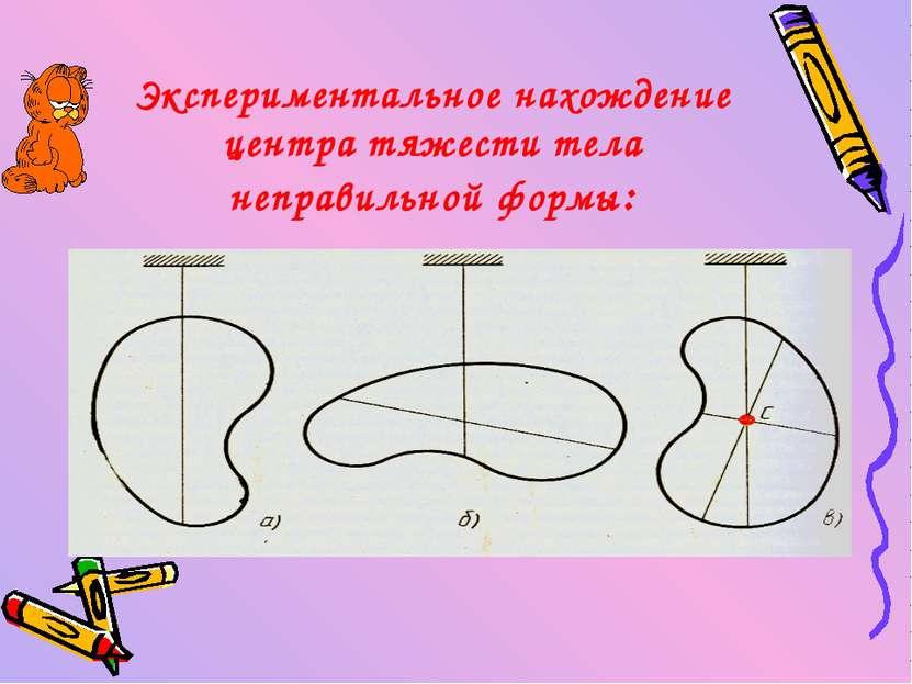 Экспериментальное нахождение центра тяжести тела неправильной формы: