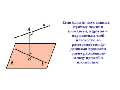 Если одна из двух данных прямых лежит в плоскости, а другая – параллельна это...
