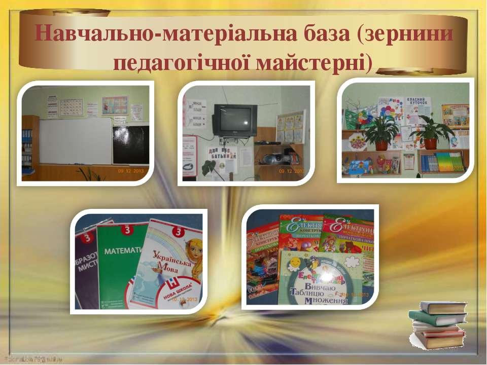* Навчально-матеріальна база (зернини педагогічної майстерні)