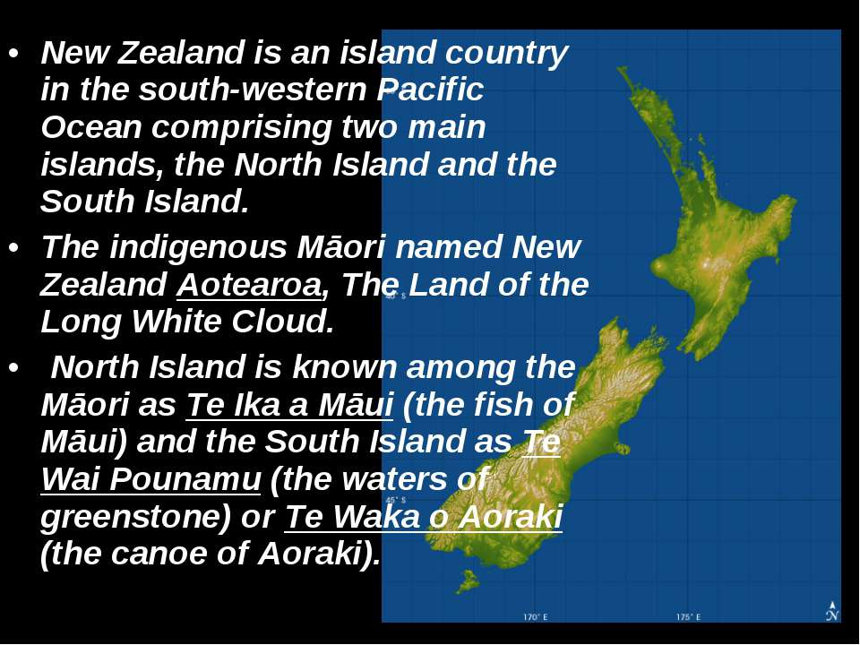 New Zealand is an island country in the south-western Pacific Ocean comprisin...