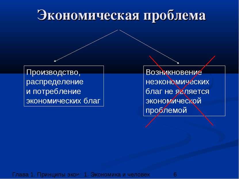 Экономическая проблема Производство, распределение и потребление экономически...