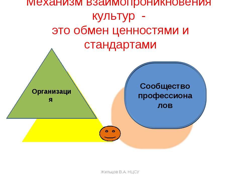 Механизм взаимопроникновения культур - это обмен ценностями и стандартами Орг...