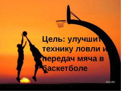 Цель: улучшить технику ловли и передач мяча в баскетболе