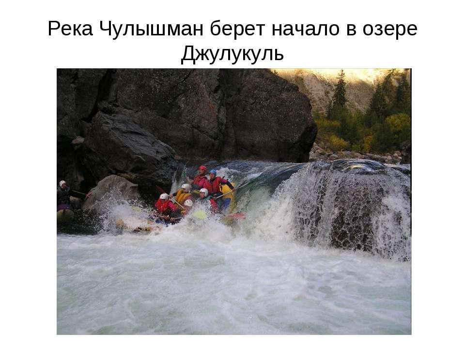 Река Чулышман берет начало в озере Джулукуль