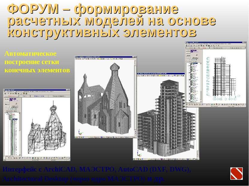 ФОРУМ – формирование расчетных моделей на основе конструктивных элементов Авт...