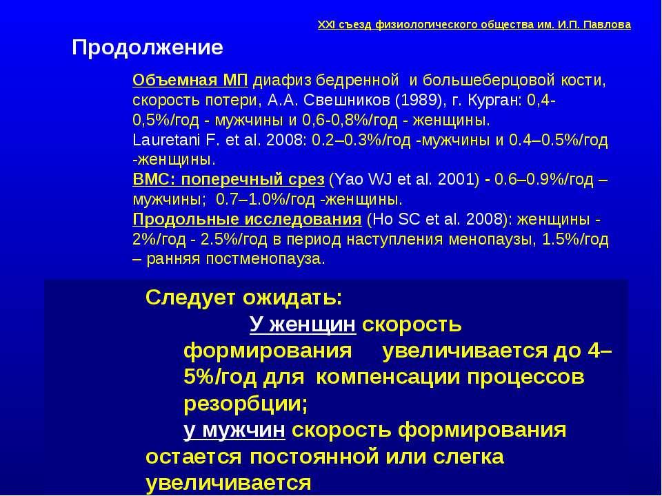 Объемная МП диафиз бедренной и большеберцовой кости, скорость потери, А.А. Св...